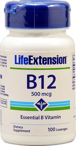 Vitamina B12 500mcg Life Extension 100 Lozenges
