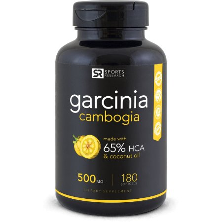 Garcinia Cambogia 65%, 500mg Sports Research - 90 Liquid Softgels