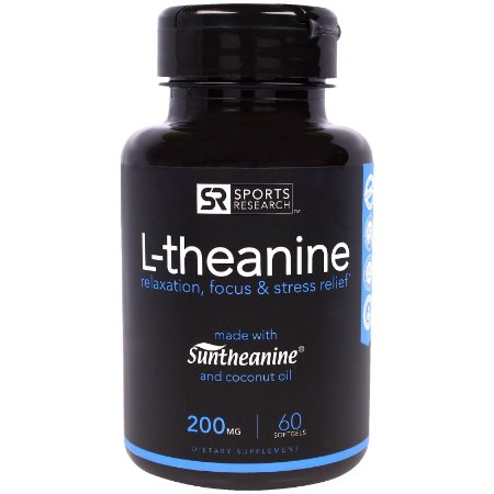 L-Theanine 200mg Sports Research - 60 softgels