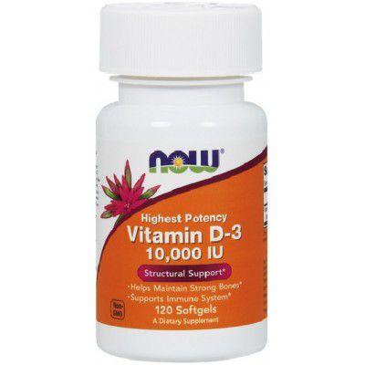 Vitamina D3 10.000 IU - NOW - 120 Softgels