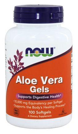 Aloe Vera Gels 10.000mg - NOW - 100 Softgels