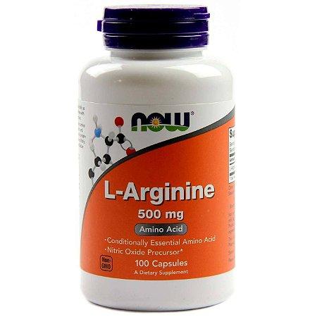 L-Arginina 500mg NOW - 100 caps