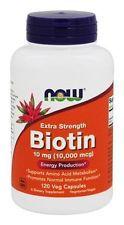 Biotin 10mg / 10.000mcg Extra Strengh - NOW - 120 Veg Caps