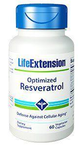 Resveratrol Optimized -  60 Vegetarian Capsules - Life Extension