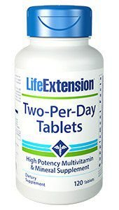 Two Per Day Life Extension 120 tabs - FRETE GRATIS