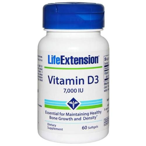 Vitamina D3 7000 IU Life Extension - 60 Softgels