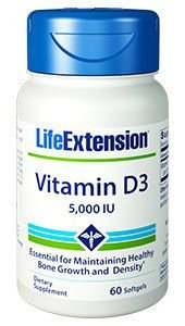 Vitamina D3 5000 IU Life Extension - 60 Softgels