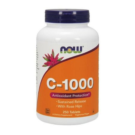 Vitamina C 1000 Sustained Release NOW 250 Tablets