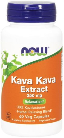 Kava Kava Extract NOW 250mg 60 Veg Caps