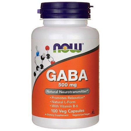 GABA 500 mg - 100 Veg caps - NOW