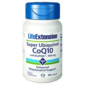 Super Ubiquinol CoQ10 com Bio PQQ 100mg Life Extension - 30 Softgels