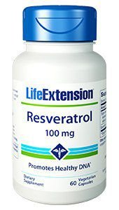 Resveratrol  100mg - 60 Veg Caps- Life Extension