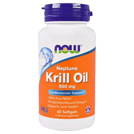 Krill Oil NOW 500mg 60 Softgels