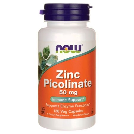 Zinc Picolinate 50mg NOW  120 Veg caps