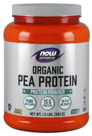 Pea Protein ORGANIC Unflavored NOW  1.5 LBS