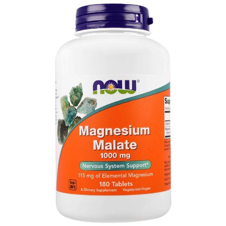 Magnesium Malate NOW 180 Tablets 1000mg