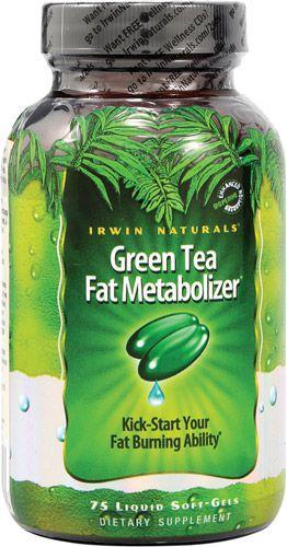 Irwin Naturals Green Tea Fat Metabolizer - 75 liquid Soft  Gels