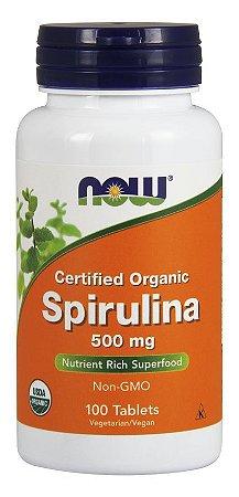Spirulina 500mg NOW - 100 tablets