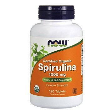Spirulina 1000 mg NOW ORGANIC 120 tabs