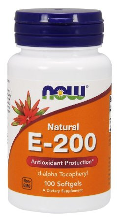 Vitamina E 200 NOW 100 Softgels