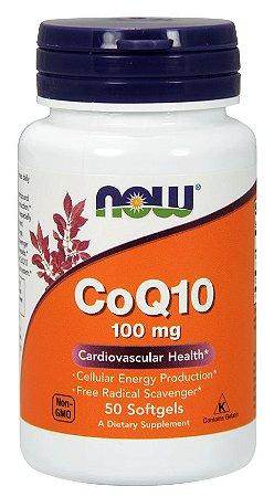 Coq10 100 mg NOW  50 Softgels