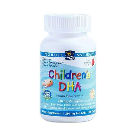 Children's DHA Nordic Naturals 250 mg Omega 3 - 90 caps