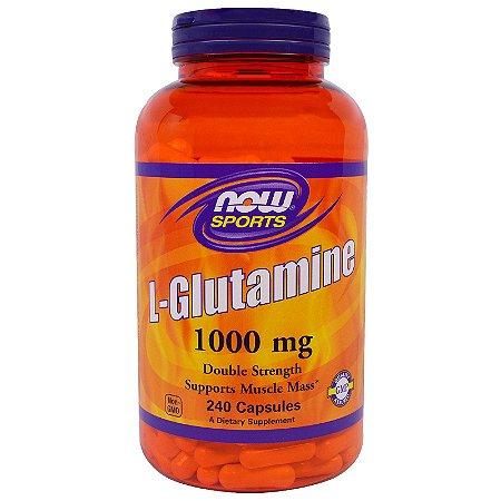 Glutamina NOW 1,000mg 240 Capsulas - FRETE GRÁTIS