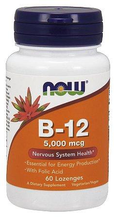 Vitamina B12 5,000mcg NOW 60 Lozenges