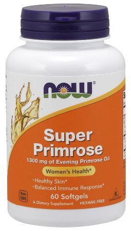 Super Primrose 1300mg NOW 60 softgels