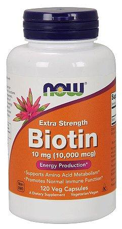 Biotin 10,000 mcg Extra Strength 120  Veg Capsules Now
