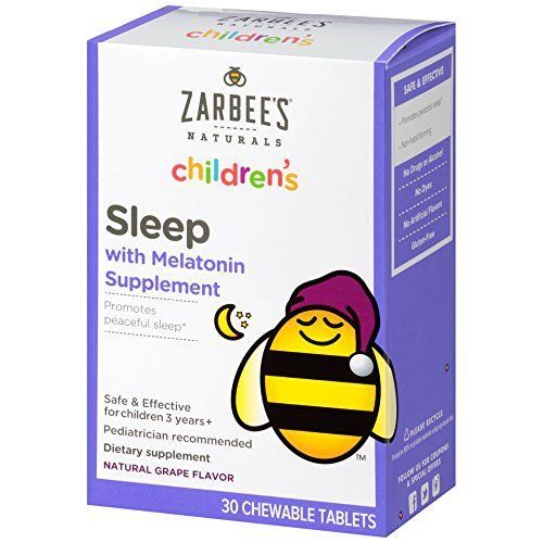 Melatonina Infantil Zarbee's Naturals 1mg Mastigável - 30 tablets