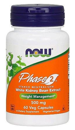 Phase 2 - 500 mg NOW -  60 Veg Capsules
