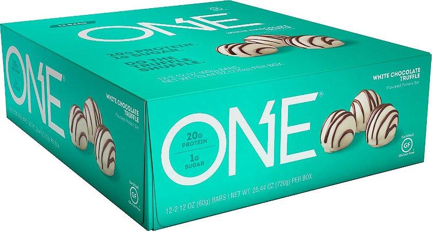 ONE Bar White Chocolate Truffle - Caixa c/ 12 Unidades - FRETE GRATIS