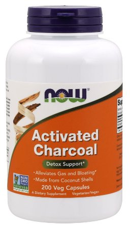 Activated Charcoal Veg  NOW  200 Capsules