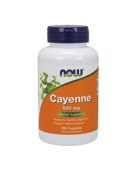 Cayenne 500 mg  NOW 100 Veg Capsules