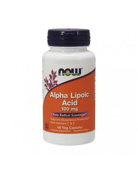 Alpha Lipoic Acid 100 mg   NOW 60Veg Capsules