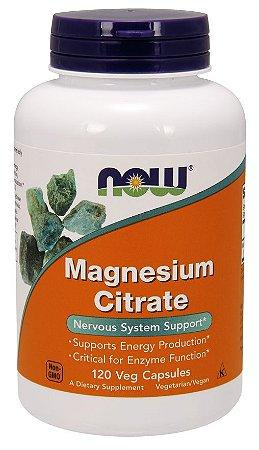 Magnesium Citrate NOW 120 veg  Capsules