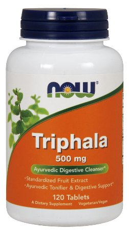 Triphala 500 mg NOW 120 Tablets