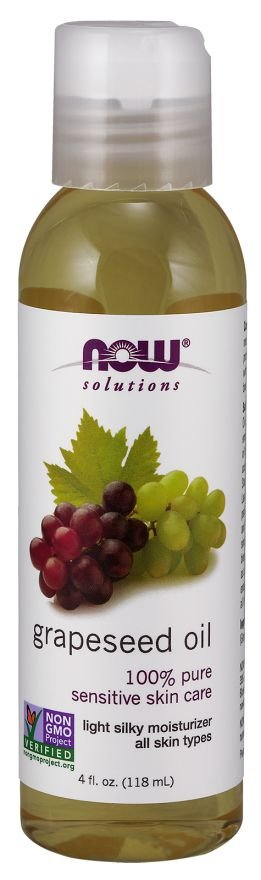 Óleo de semente de uva  NOW  - 118 ml