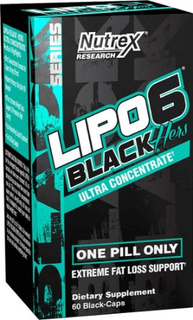 Lipo 6 Black HERS 60 Black Caps
