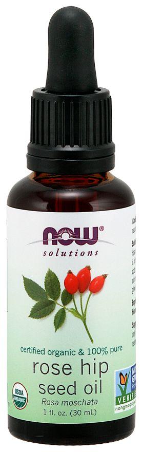 Óleo Rose Hip Seed Organic NOW 30 ml