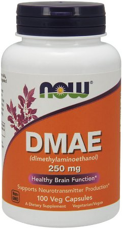 DMAE 250 mg NOW 100 Veg Capsules