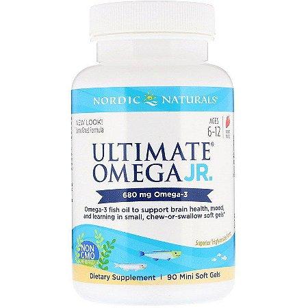 Ultimate Ômega JR 680 mg - Nordic Naturals 90 Mini Softgel