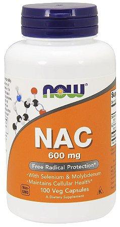 NAC 600 mg NOW 100 Veg Capsules