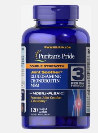 Double Strength Glucosamine Chondroitin & MSM Puritan's 120 caplets