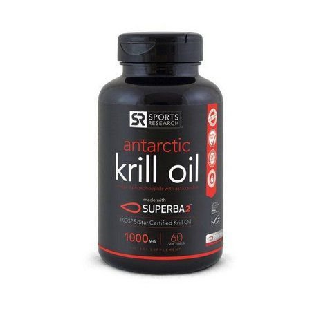 Krill Oil Antarctic 1000mg SPORTS RESEARCH 60 caps