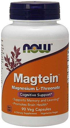 Magtein L-Treonato de Magnésio NOW  90 veg cápsulas