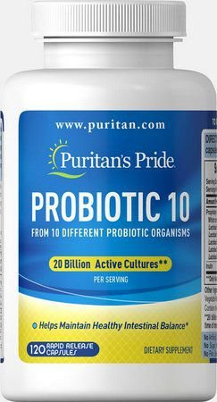 Probiotic 10 20 billion 120 capsules PURITANS Pride