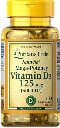 Vitamina D3 125 mcg 5.000 IU PURITANS 100 softgel