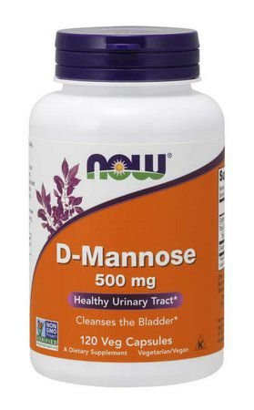 D Mannose 500 mg NOW 120 Veg Capsules